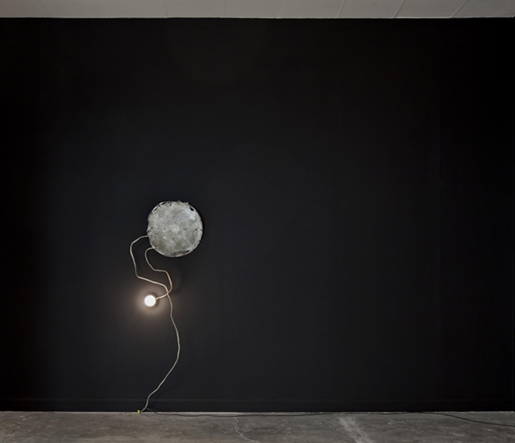 Bhakti Baxter, Black Onyx Wall with Light Source, 2010