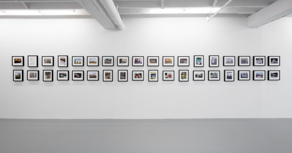Installation view of John Miller, Middle of the Day, I Stand, I Fall at ICA Miami