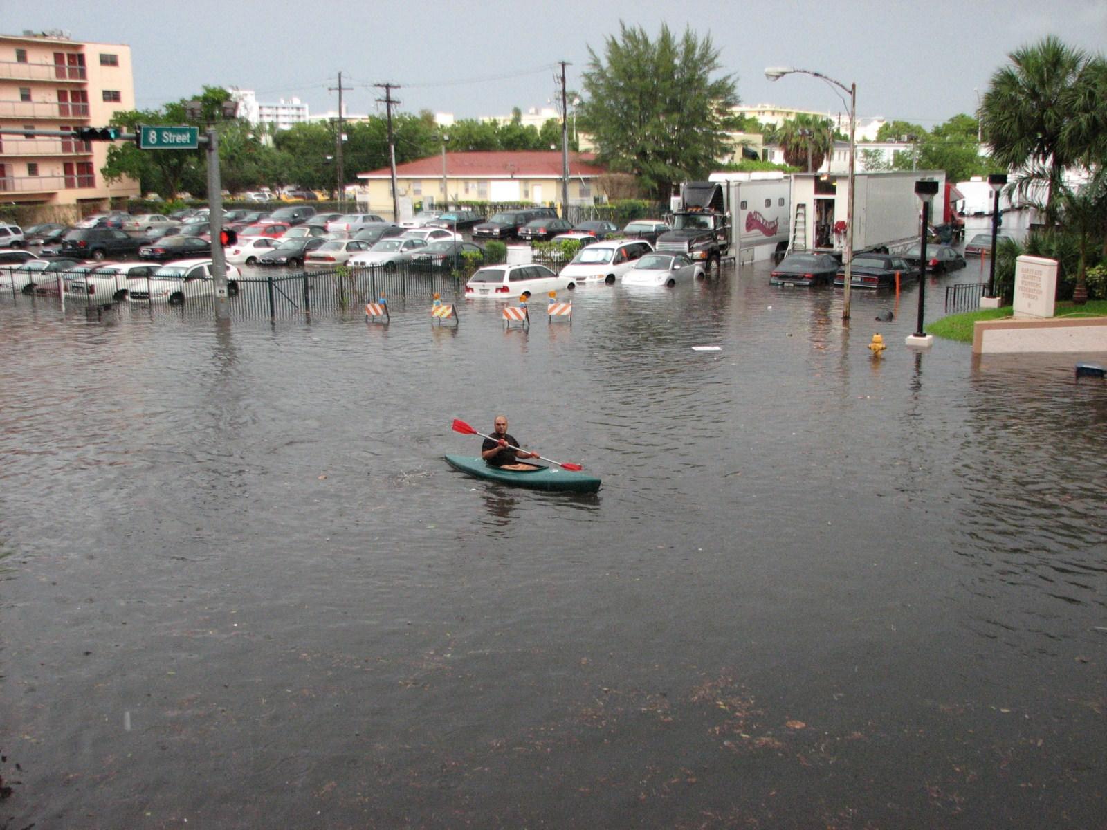 Image of flooding on Miami Beach