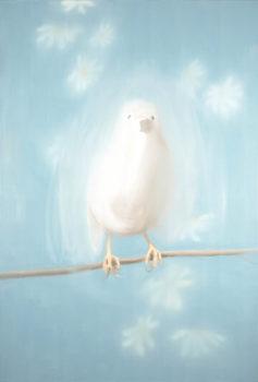 Ann Craven, Bird in White (for Johnny Cash) (White Bird #1), 1998