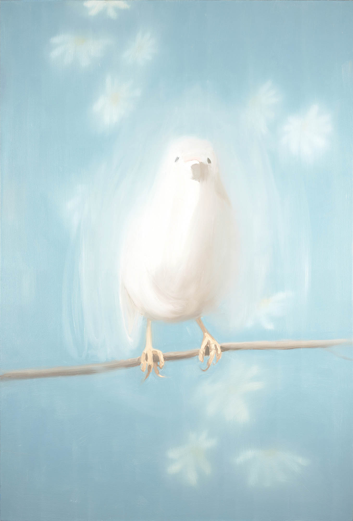 Ann Craven, Bird in White (for Johnny Cash) (White Bird #1), 1998