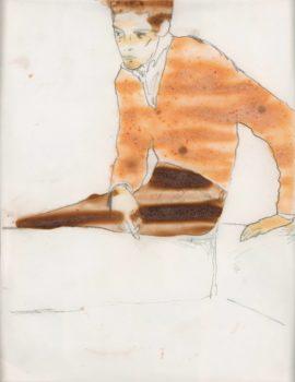 Hernan Bas, Slim Fast Silhouette, 1990-2000