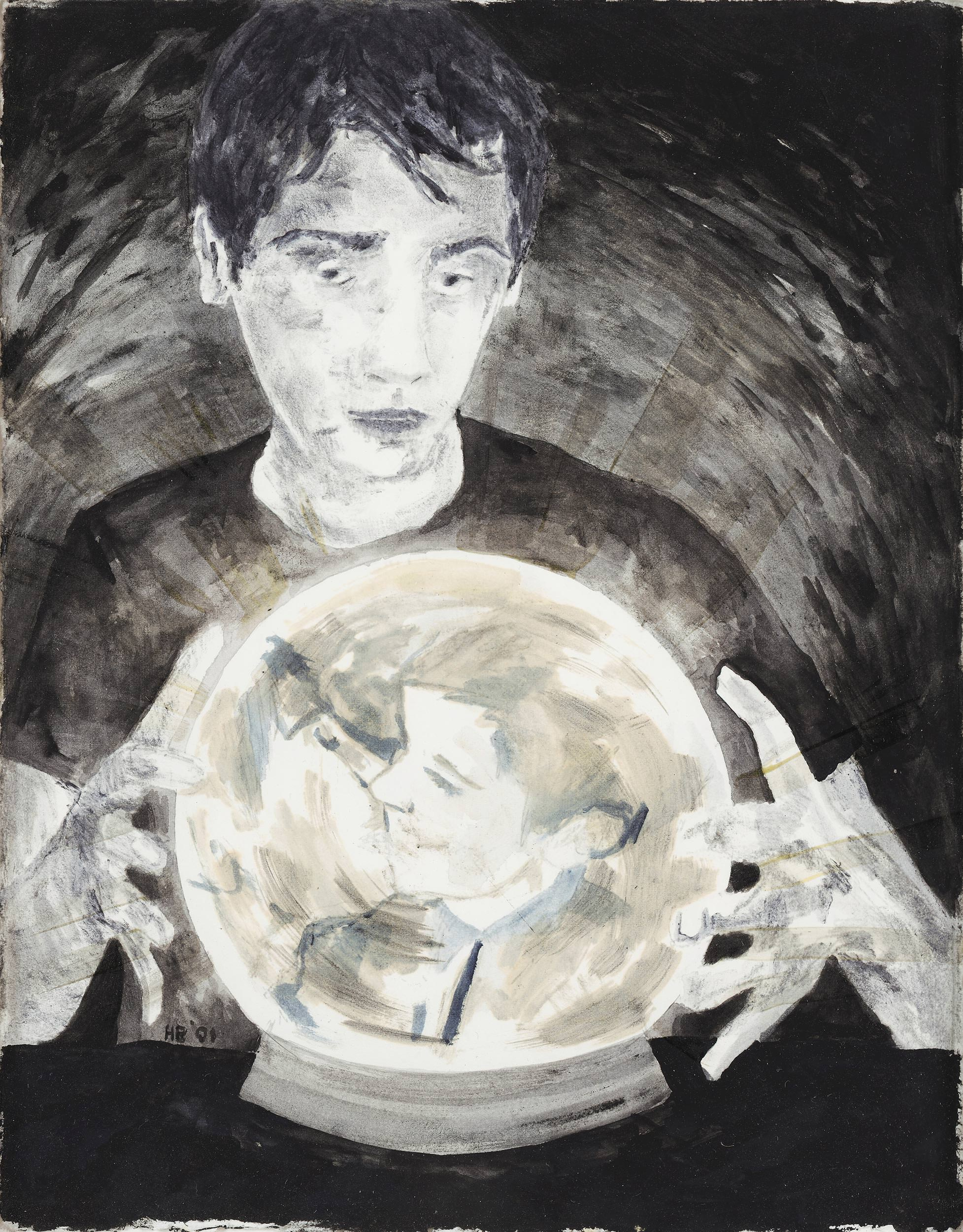 Image of Hernan Bas, Untitled (Crystal Ball), 2001
