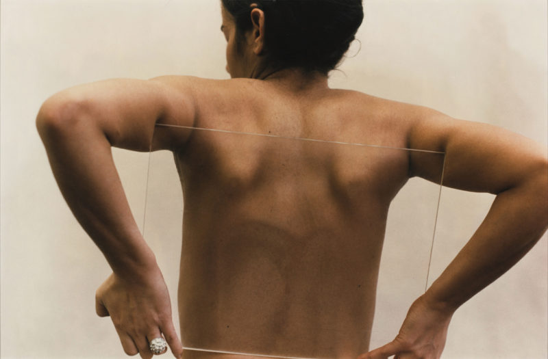 Ana Mendieta, Untitled (Glass on Body), 1972. Color photograph, 17 1/4  x 24 inches (43.82 cm x 60.96). Purchased with funds provided by Rosa and Carlos de la Cruz.