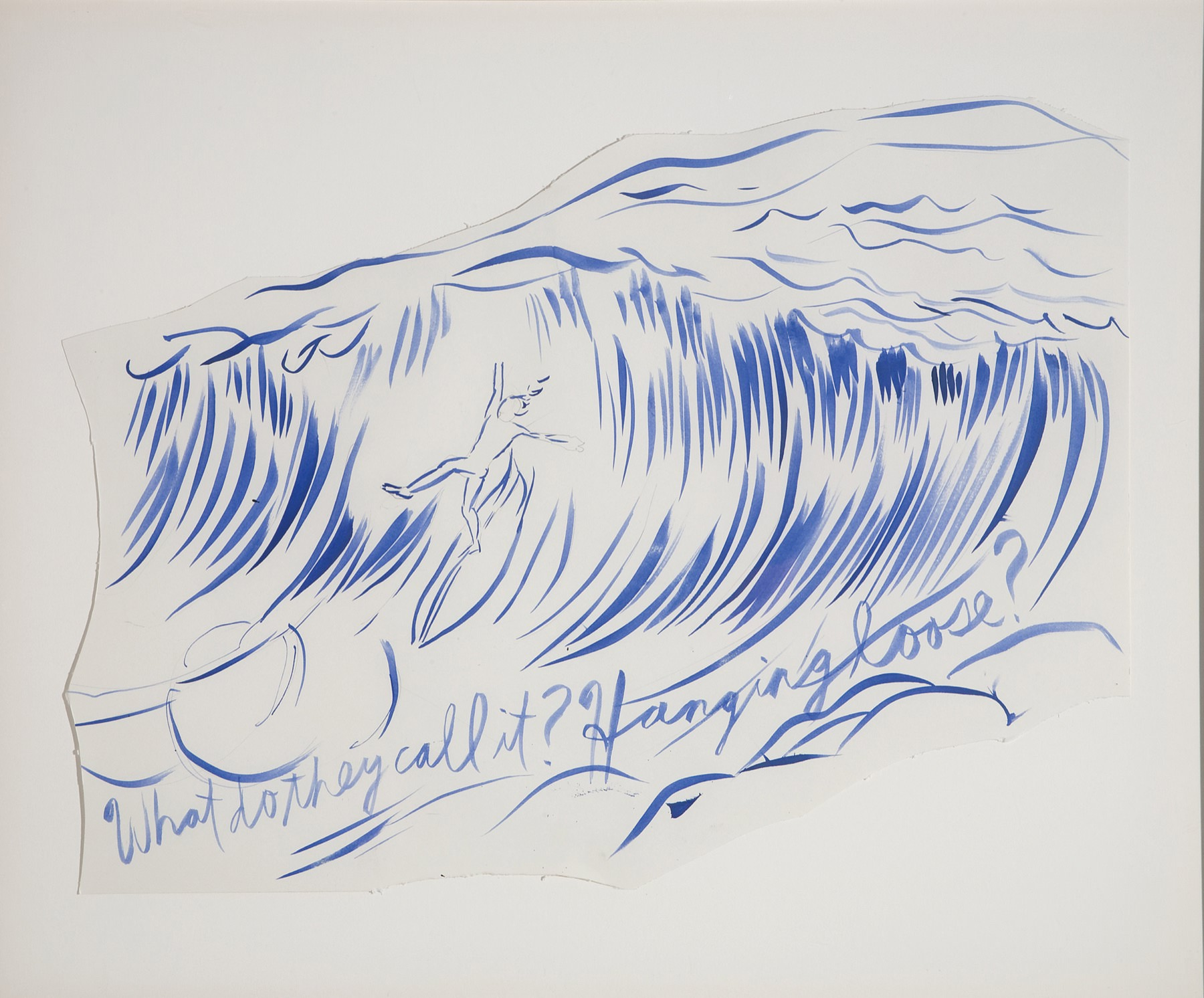 Image of Raymond Pettibon, Untitled (Why do they call it hanging ten?), 2003