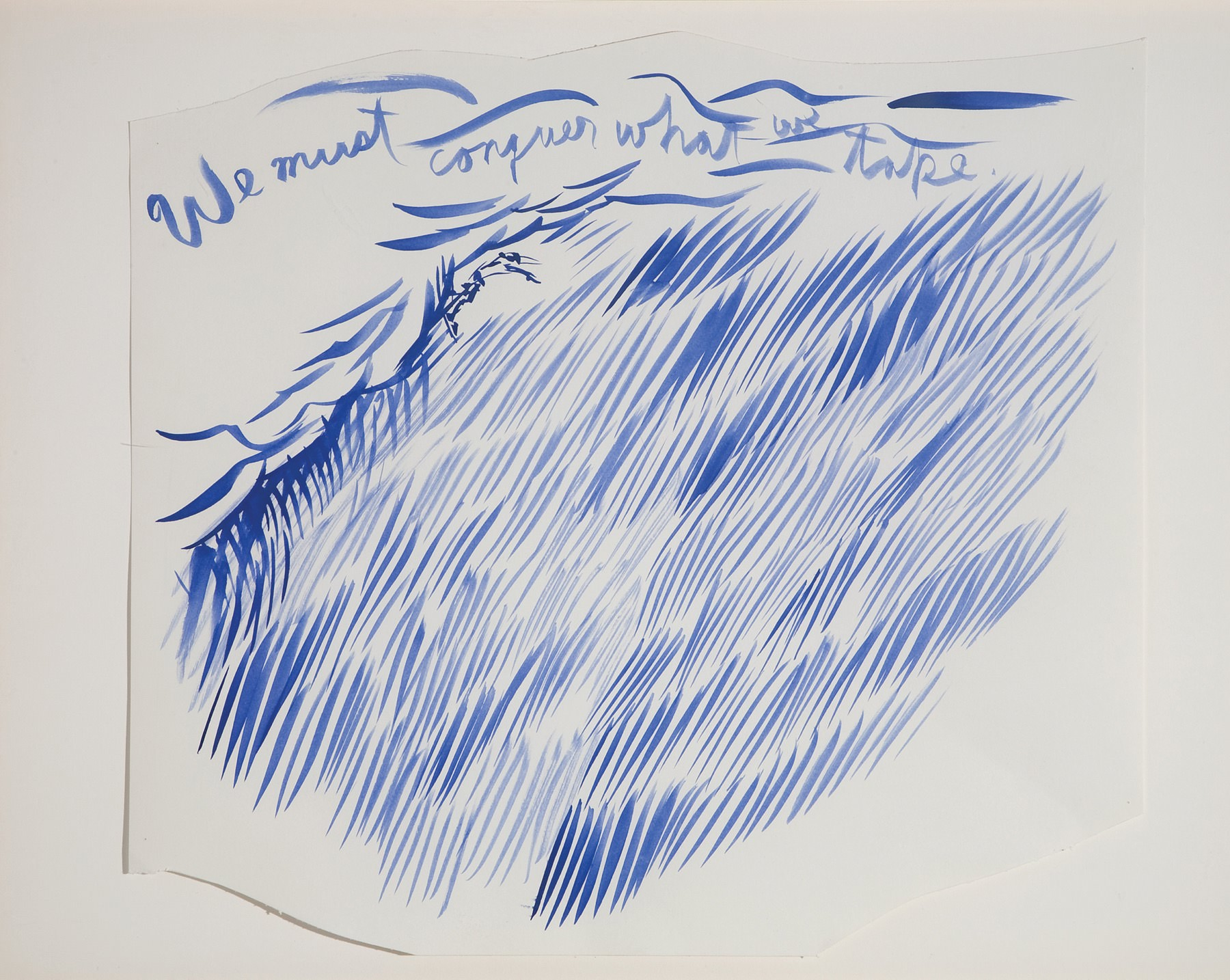 Image of Raymond Pettibon, Untitled (We must conquer), 2003