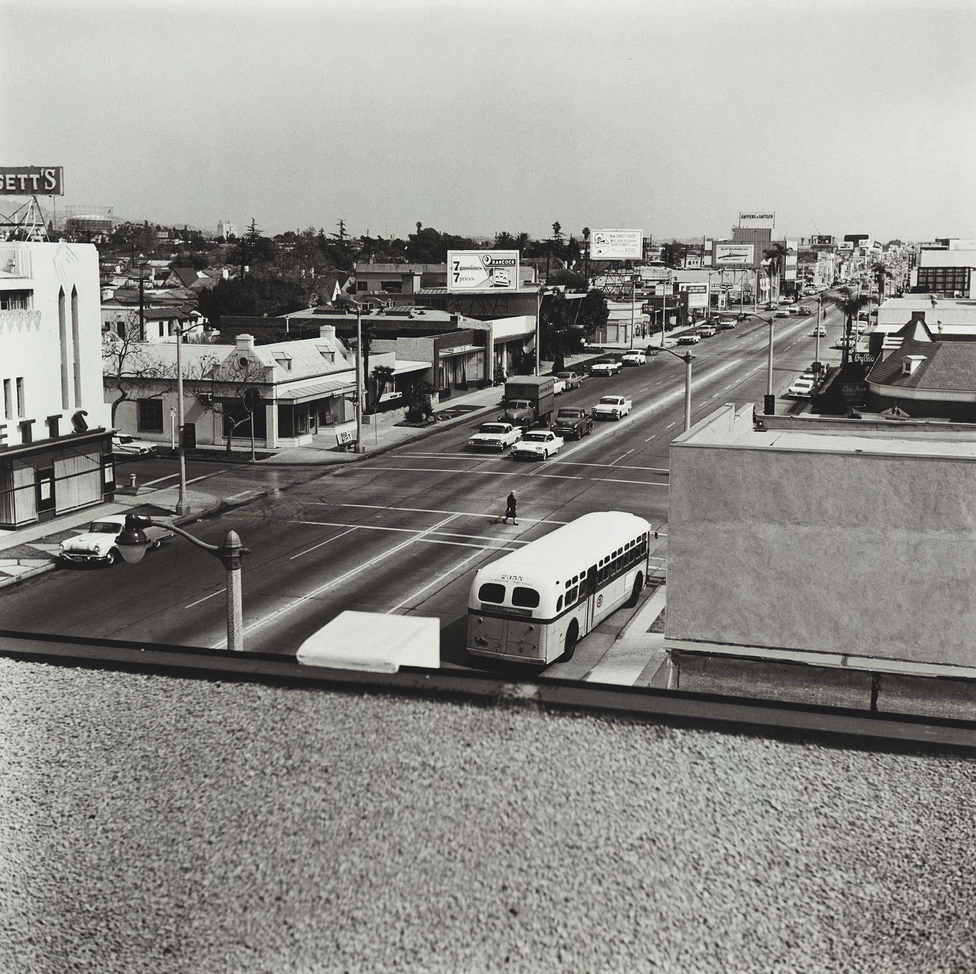 Ed Ruscha, Rooftops, 1961