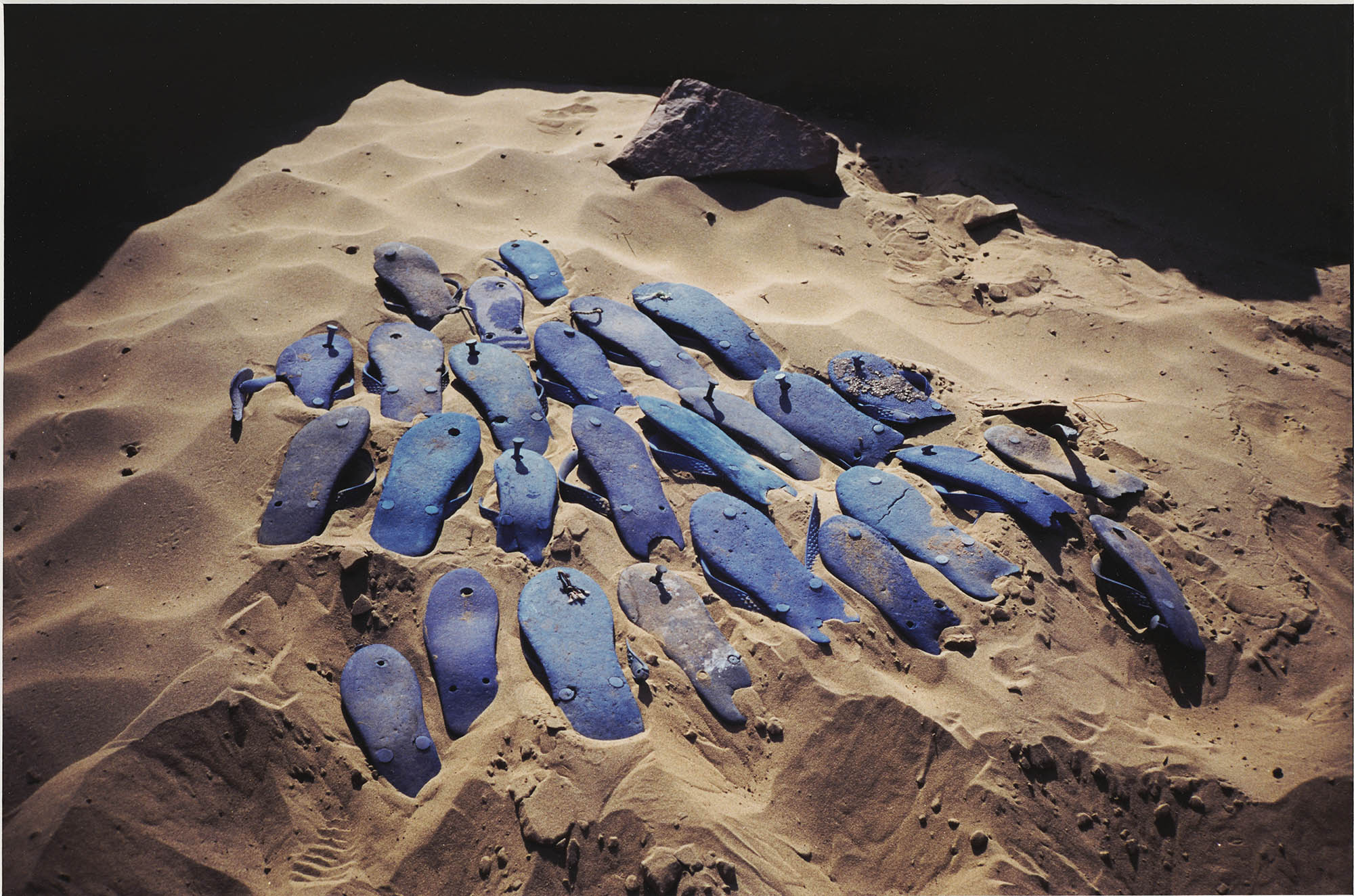 Image of Gabriel Orozco, Blue Sandals, 1996