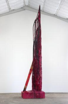 Sterling Ruby, Monument Stalagmite/Skulldragged, 2010