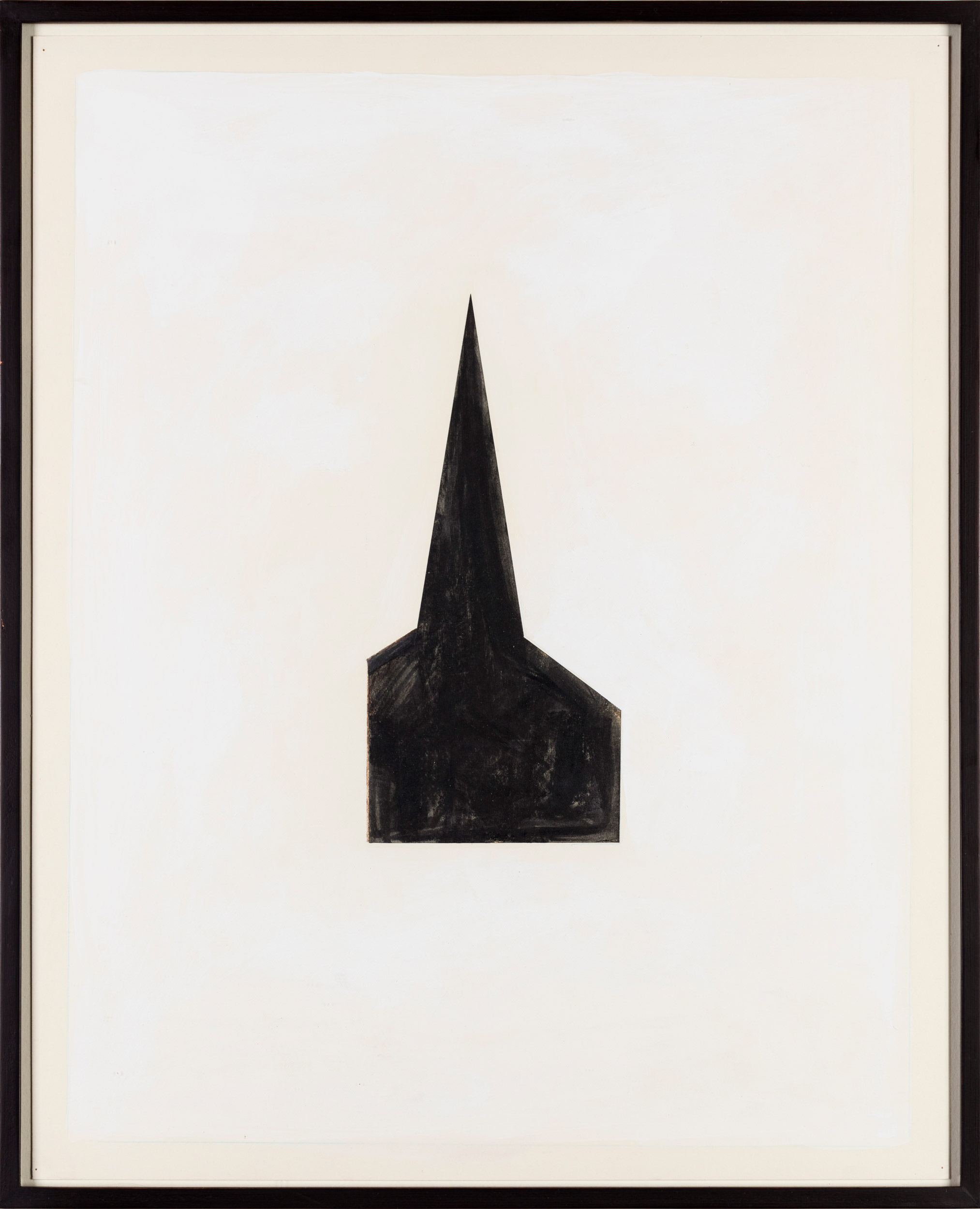 Image of Robert Therrien, Untitled #100 (Steeple), 1980. Tempera and collage on paper.