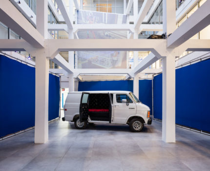 Installation view: Alex Bag, The Van (Redux)*, 2015. Courtesy of the Artist and ICA Miami. Photo: Fredrik Nilsen Studio.