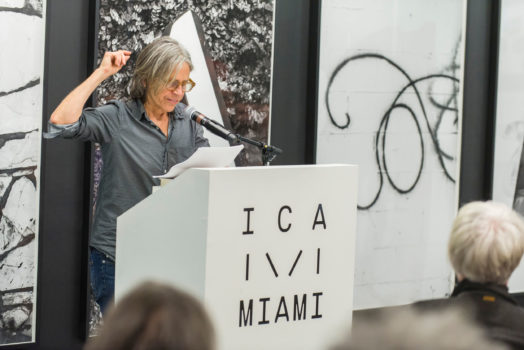 Eileen Myles reading poetry for ICA IDEAS, ICA Miami