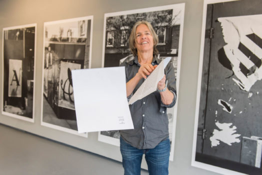 Eileen Myles posing for a photo at ICA IDEAS, ICA Miami