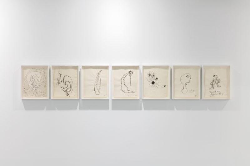 "Installation view: Ida Applebroog ""Mercy Hospital"" at Institute of Contemporary Art, Miami (ICA). Photo: Fredrik Nilsen Studio."