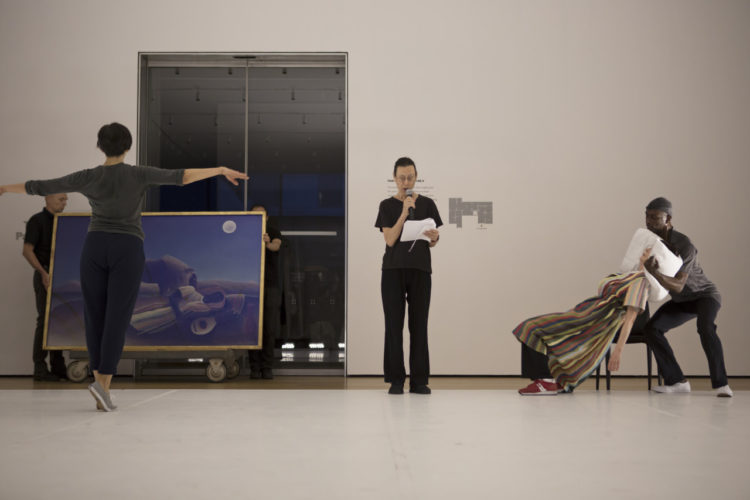 Yvonne Rainer: The Concept of Dust, or How do you look when there's nothing left to move? June 9-14, 2015. The Werner and Elaine Dannheisser Lobby Gallery, fourth floor, The Museum of Modern Art, New York, New York, June 10, 2015. Photo: Julieta Cervantes