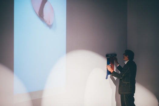 Richard Tuttle installs work during ICA Speaks, ICA Miami