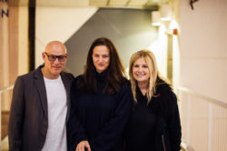 Craig Robins, Dara Friedman and ICA Miami Director Ellen Salpeter at ICA Speaks