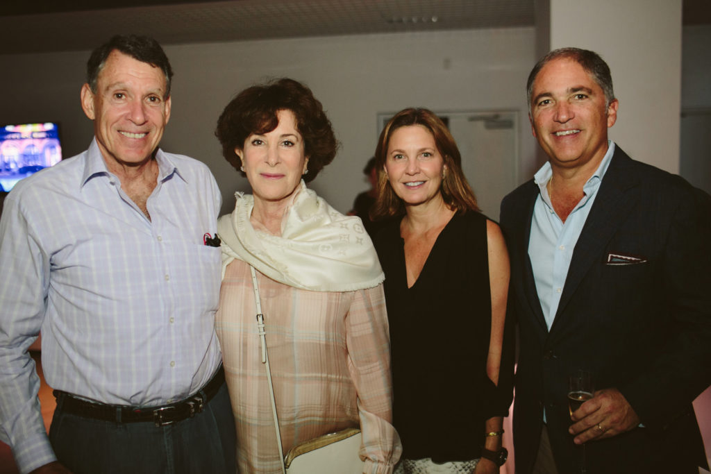 Image of Ray Ellen and Allan Yarkin with guests at ICA Speaks, ICA Miami