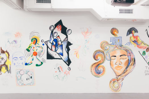 Image from Shut Up and Draw at ICA Miami