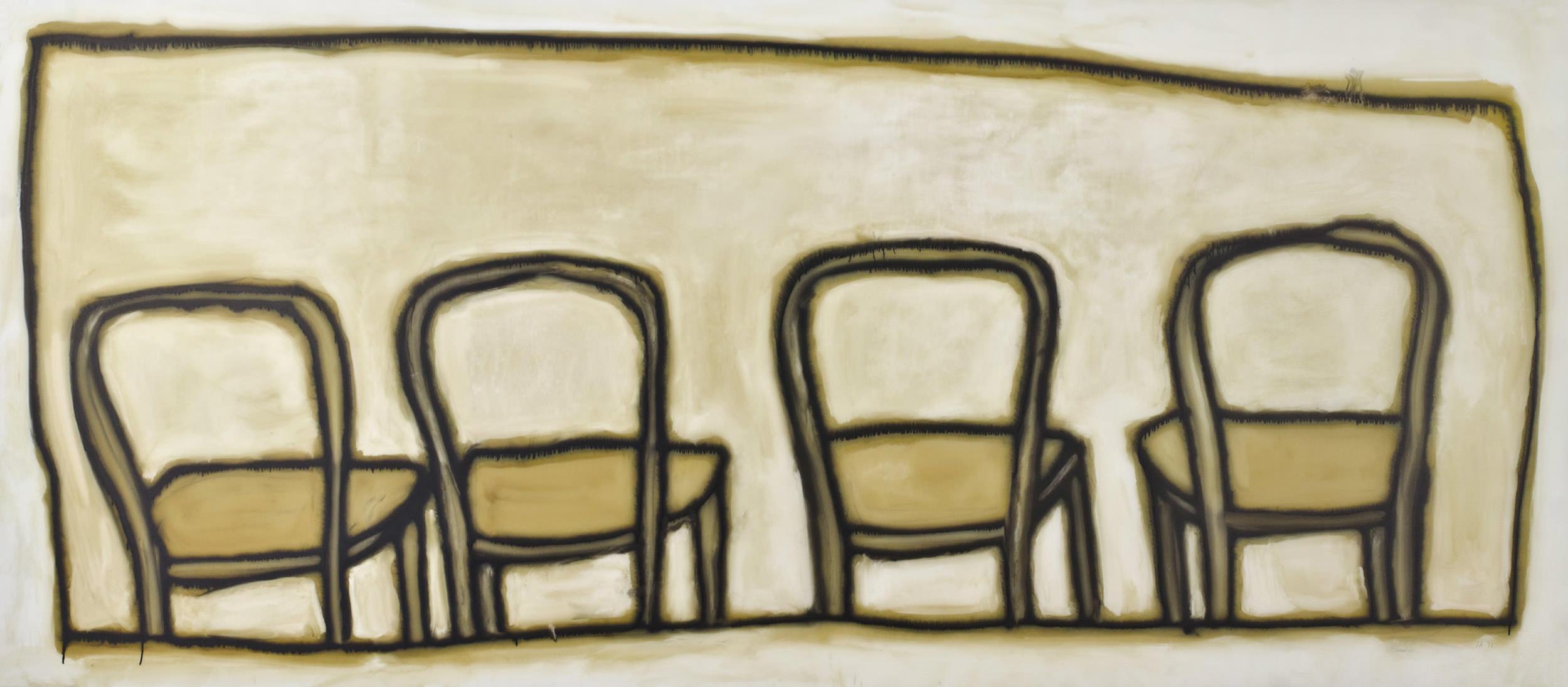 Ida Applebroog, Catastrophe (Chairs), 2012 at ICA Miami