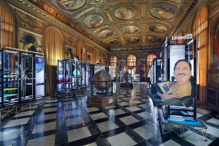 Installation view: Simon Denny, Secret Power, 56th Venice Biennale, 2015. Photo: Jens Ziehe.