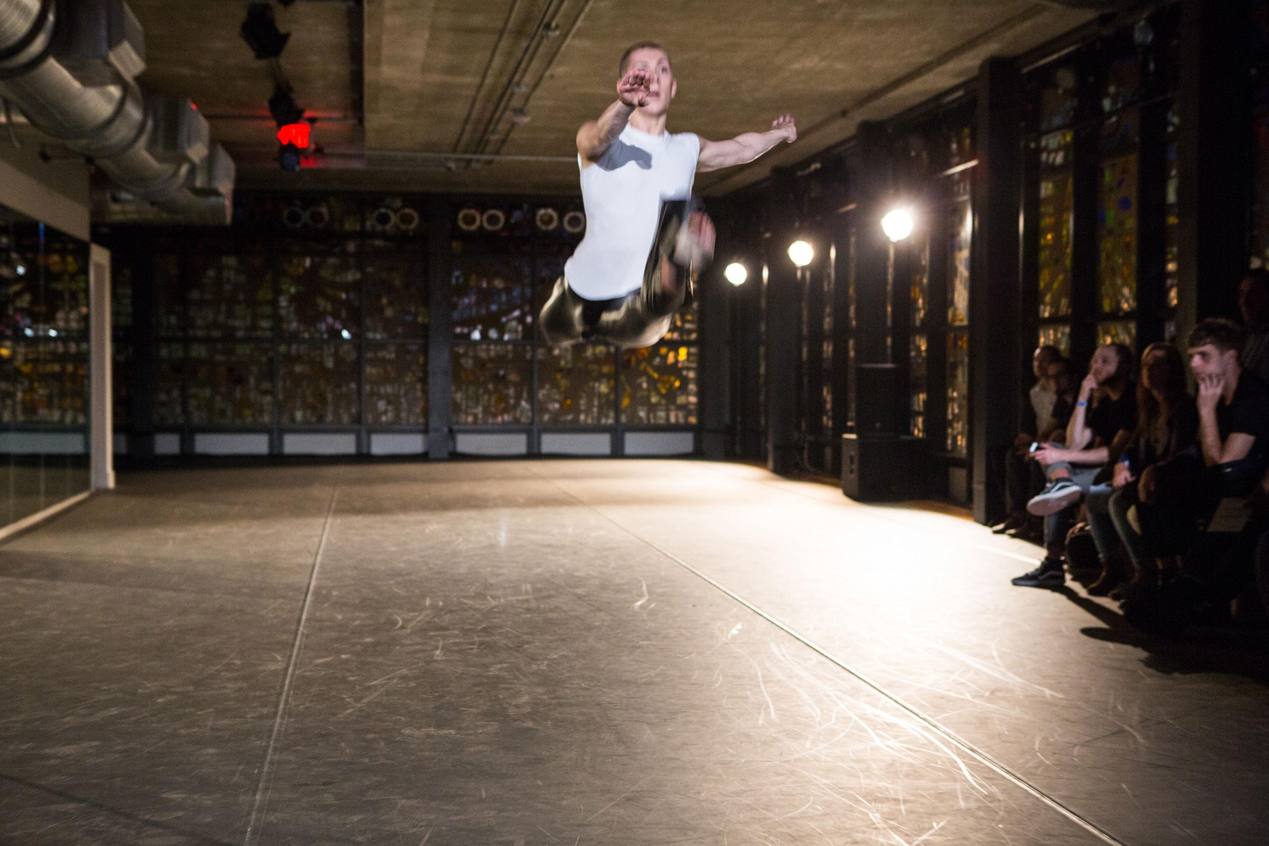 Jordan James Bridge. ICA Performs: Michael Clark Company. Photo: Sonja Garnitschnig.
