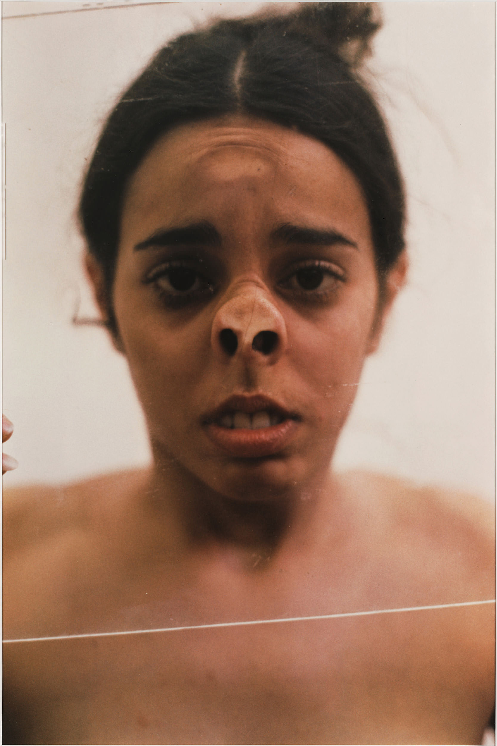 6 Ana Mendieta, Untitled (Glass on Face), 1972.