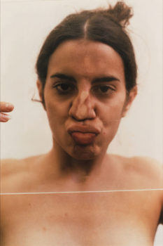 4 Ana Mendieta, Untitled (Glass on Face), 1972.
