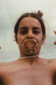 2 Ana Mendieta, Untitled (Glass on Face), 1972.