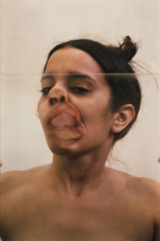 1 Ana Mendieta, Untitled (Glass on Face), 1972.