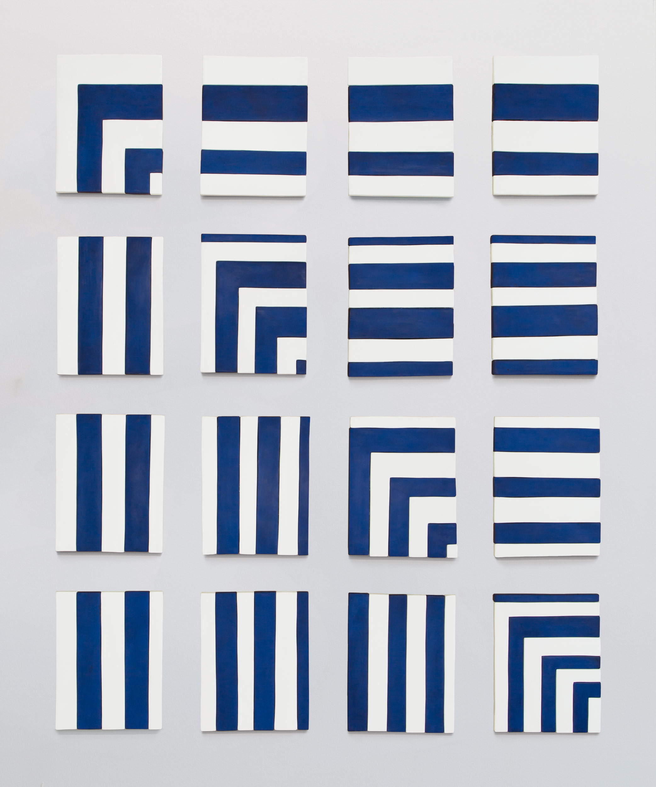 Sadie Benning, Blue and White Painting Sequence, 2013