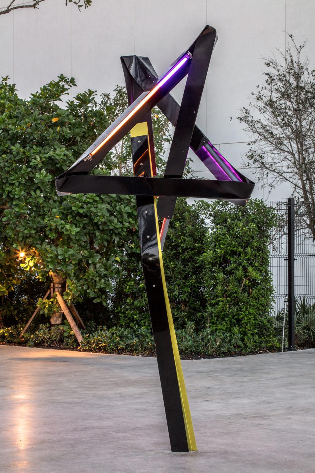 Installation view Mark Handforth, Dr. Pepper, 2017 at ICA Miami.