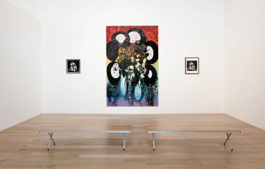Installation view of Chris Ofili at ICA Miami, March 2018