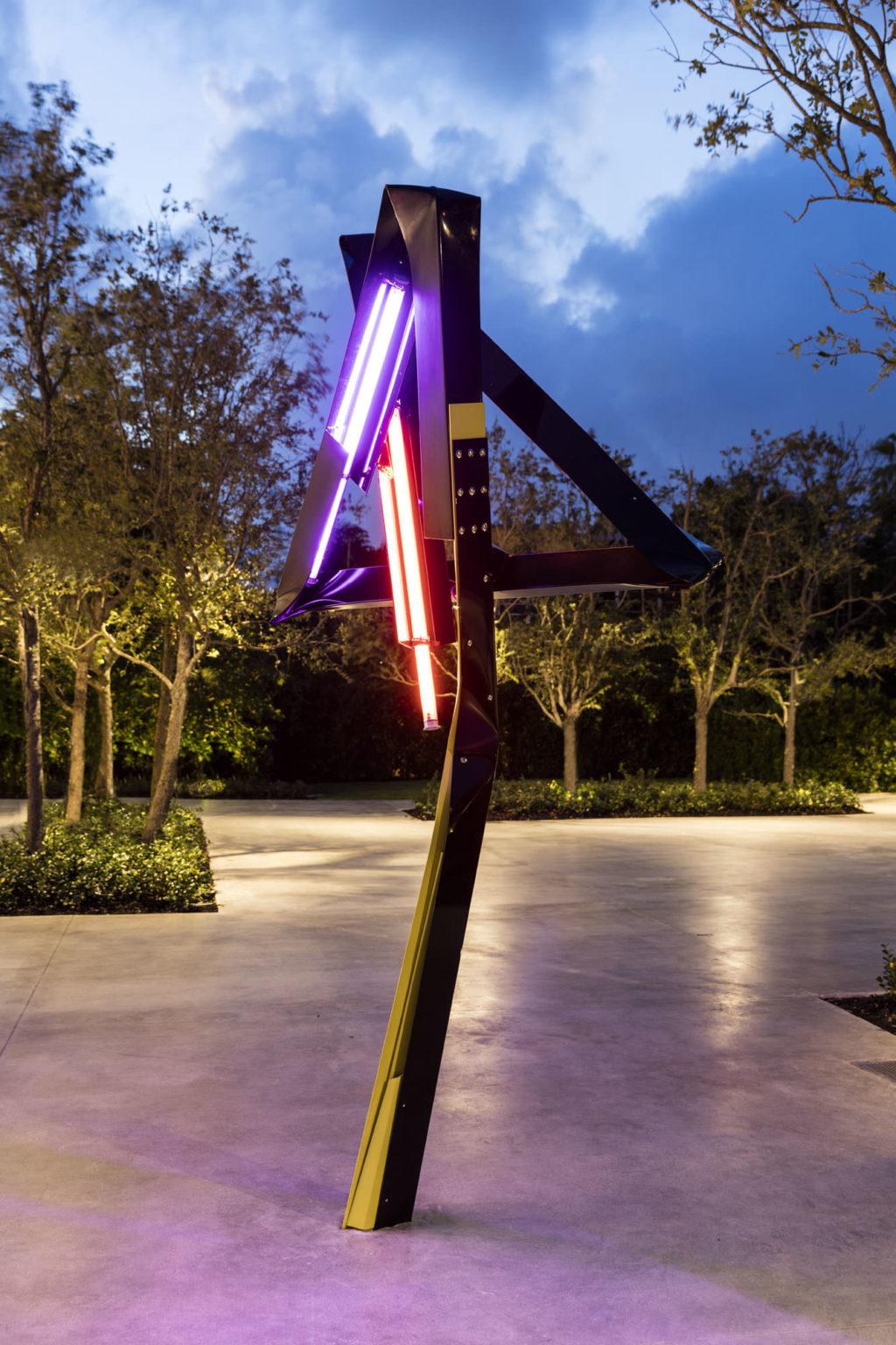 Installation view Mark Handforth, Dr. Pepper, 2017 at ICA Miami