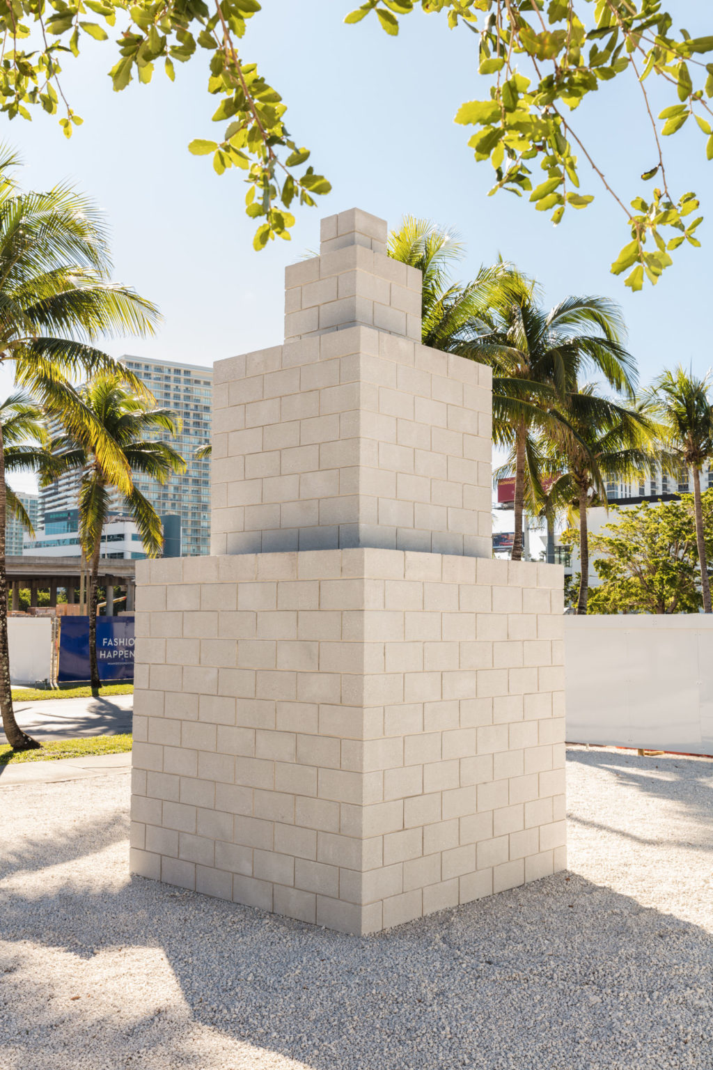 Installation view Sol LeWitt, Tower (Frankfurt), 1993 in the Miami Design District