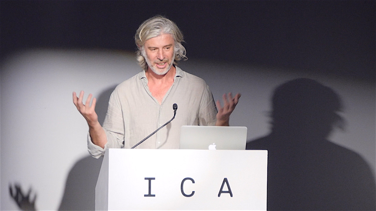 ICA Speaks: Mark Handforth at ICA Miami. Image courtesy of Wet Heat Projects.