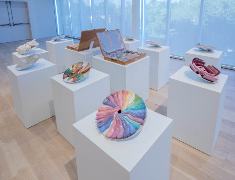 "Installation view: ""Judy Chicago: A Reckoning"" at Institute of Contemporary Art, Miami. Dec 4, 2018 – Apr 21, 2019. Photo: Fredrik Nilsen Studio."