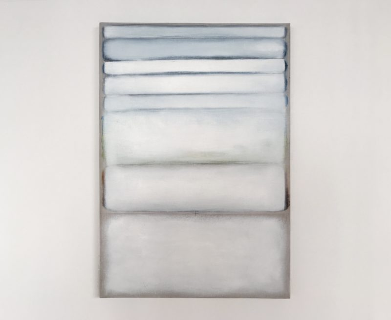 Richard Höglund, Twelve Joyful Hours, 2018. Oil on marble pulver on linen. Courtesy the artist and Ronchini Gallery, Miami.
