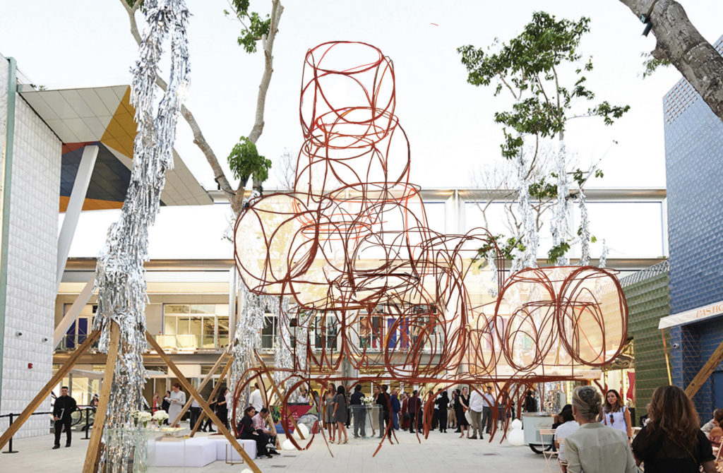 Prototype sculpture by sculptor Yona Friedman for the Miami Design District