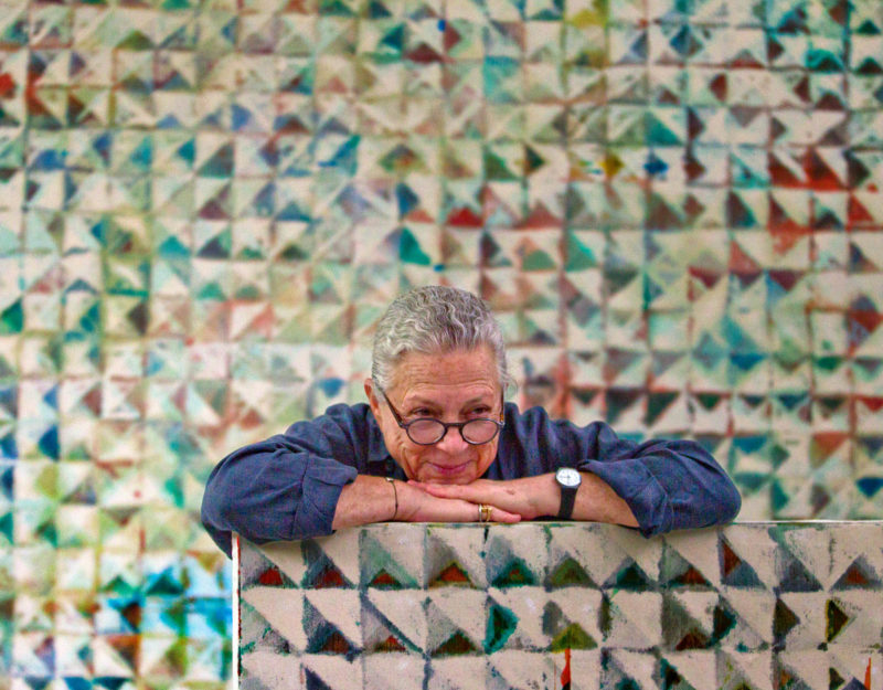 Lynne Golob Gelfman in her studio. Courtesy the artist.