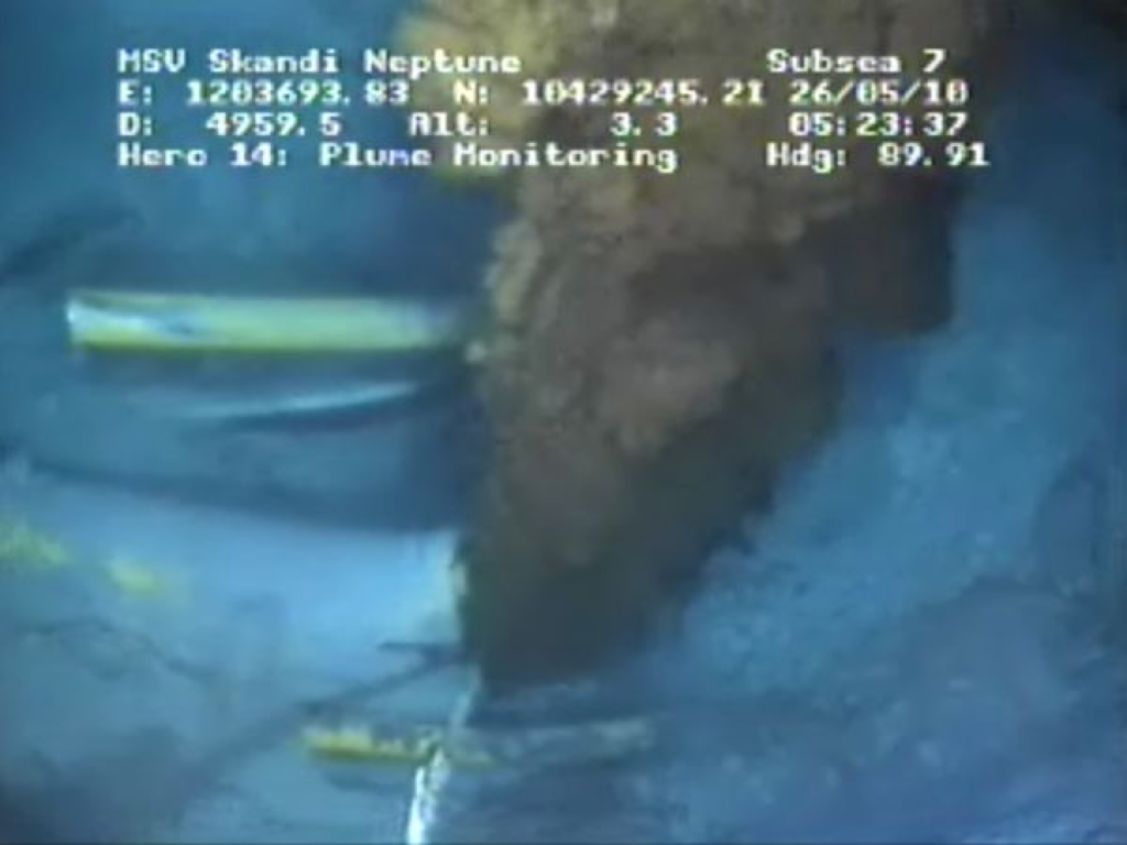 Image of BP oil spill in realtime