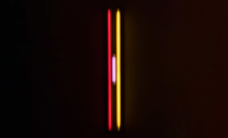 Dan Flavin, Puerto Rican light (to Jeanie Blake) 2, 1965. Fluorescent lights. Collection of Institute of Contemporary Art, Miami. Gift of Joan and Roger Sonnabend. Photo: Silvia Ros.