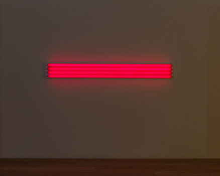 Installtion view: Dan Flavin at Institute of Contemporary Art, Miami