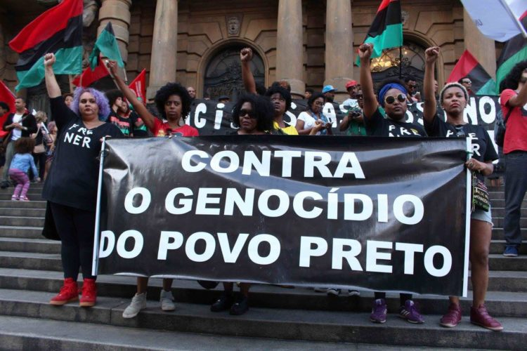 Organizing against anti-Black genocide in Brazil. Image courtesy Dr. João H. Costa Vargas.