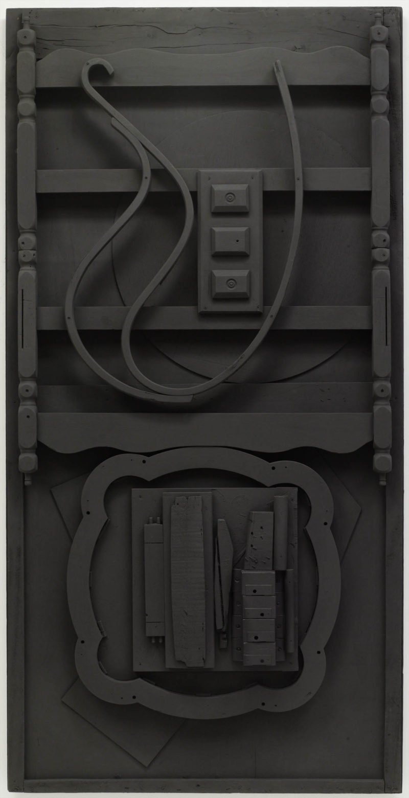 Louise Nevelson, Untitled, 1976-78 (detail). Wood painted black. © Estate of Louise Nevelson / 2019 Artists Rights Society (ARS). Courtesy Pace Gallery.