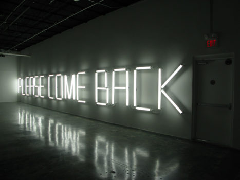 Claire Fontaine, PLEASE COME BACK (K.font/American), 2008