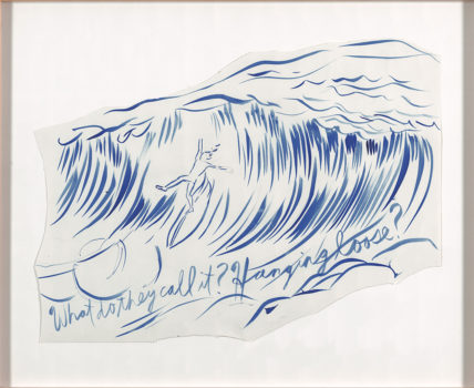 Raymond Pettibon, Untitled (Why do they call it hanging ten?), 2003