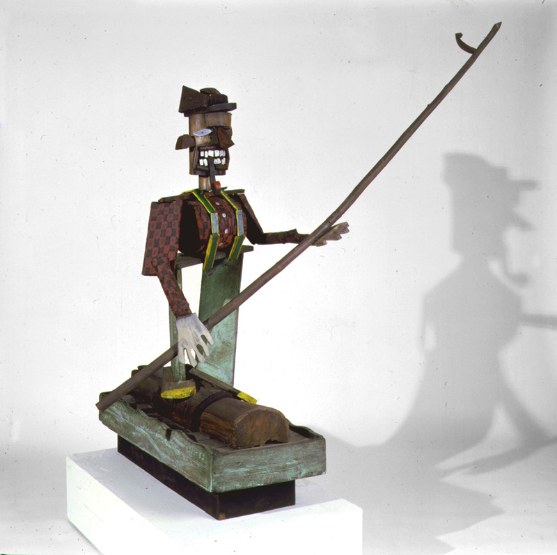 Red Grooms, Lumberjack, 1977-84. Painted Bronze Sculpture