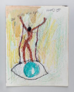 Purvis Young, Man with the eye, 1975 / Untitled, 1975