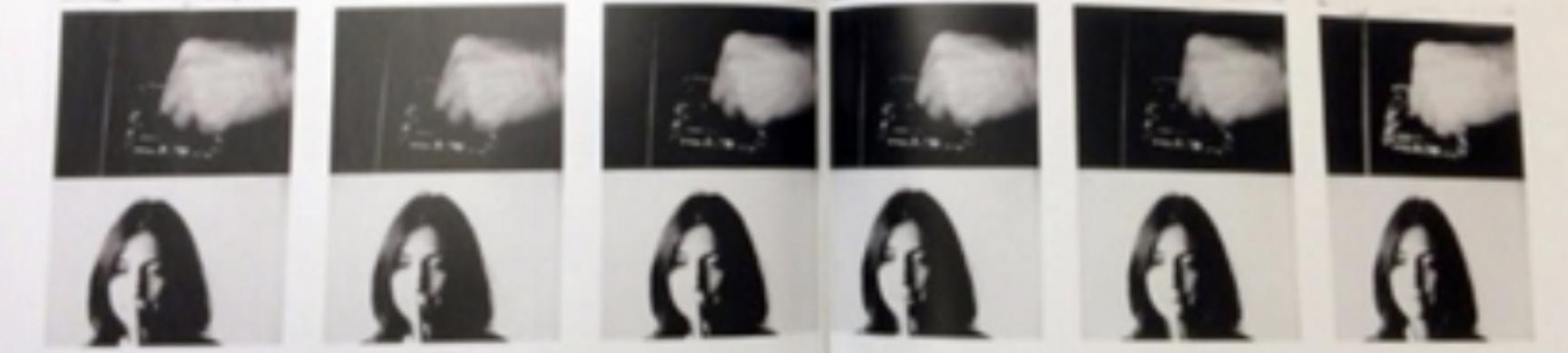 John Baldessari, Action Reaction Series (Synchronized)- Putting Out Cigarette, 1976